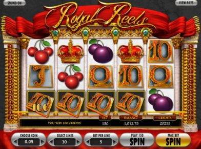 Royal reels slot logo