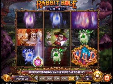 Rabbit Hole Riches slot logo