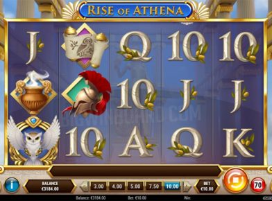 Rise of Athena slot logo